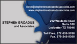 Business Card - Stephen Broadus and Associates
